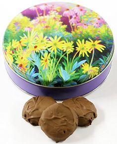 Scotts Cakes Milk Chocolate Covered Oreos in a Small Flower Garden Tin >>> You can find more details by visiting the image link.