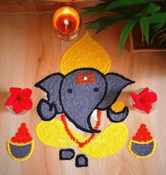 Rangoli Designs Flower, Rangoli Designs Diwali, Rangoli Designs Images, Kids Rugs, Flowers, Ideas, Home Decor, Decoration Home, Kid Friendly Rugs