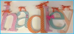 Baby Girl Wooden Letters  HADLEYs THEME  Aqua by dwellingonline, $11.00