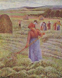 Camille Pissarro - Haying at Eragny
