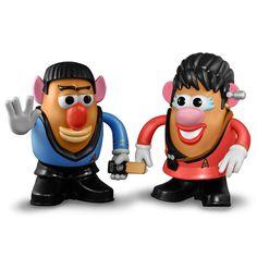 Spock And Uhura Mr. Potato Heads