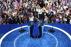 Pin for Later: Here's Why Michelle Obama's DNC Dress Choice Was an Extremely Smart One The Fit-and-Flare Design Was Modest Yet Stylish
