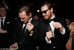 Bromance dancing with Fassbender.