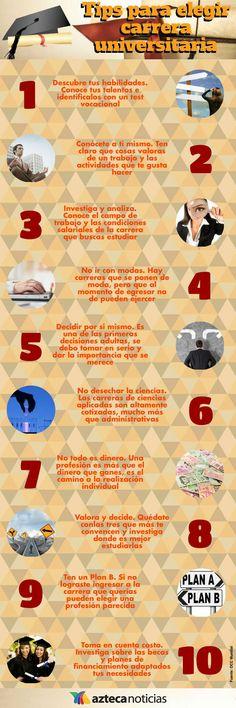 Tips para elegir carrera universitaria #infografia