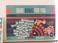 The one and only UniOfSunLib 'Share-ometer'. Encouraging the sharing of impact of extra investment in books. A sliding scale of prizes dependent upon customer participation from voucher to iPad Air