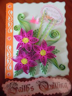Faith's Quilling : God Bless You Cards