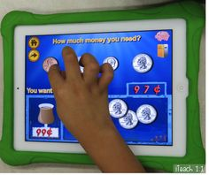 Money always seems to be such a difficult concept for primary students, and if I'm being completely honest, I usually tend to dread teaching it. However, this year the iPads have helped make our mone Learning Money, Learning Apps, Kids Learning, Autism Education, Microsoft, Teaching Kids, Teaching Spanish, Teaching Tools