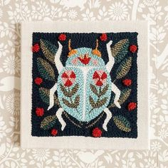 Beetle Punch Needle Kit by The Urban Acres   Itchy Stitchy