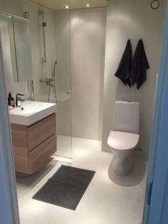 mikrosementti vanhan laatan päälle - helppo kylppäriremontti   Julkisivuremontti - Ulkoverhous Turku Toilet, Bathroom, Gate Valve, Washroom, Flush Toilet, Full Bath, Toilets, Bath, Bathrooms