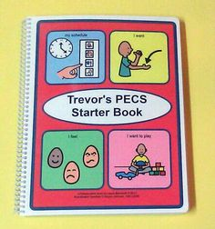 Autism PECS Communication Book - My PECS Starter Book - 80 Symbols ABA on Etsy, $45.00