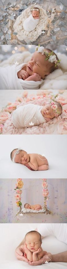 heidi hope newborn photography baby girl holiday floral rhode island photographer