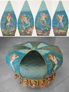 It's not your Grandmother's Needlepoint: Mermaids and more