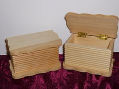 Cut Scallop pattern Wood Boxes by TrueColorsBoutique on Etsy, $4.50