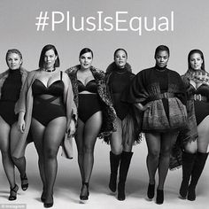 Role model: Sabina (third from left) recently starred in Lane Bryant's 'Plus Is Equal' campaign, which promotes fashion for all sizes