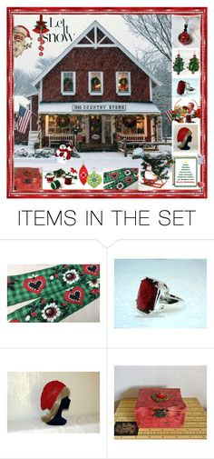 """""""Let It Snow!"""" by glassdreamshawaii ❤ liked on Polyvore featuring art and vintage"""