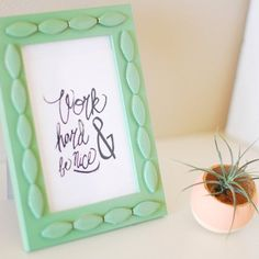 Use old jewelry to create a lovely textured frame!