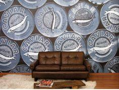 Go Home Caviar Petrol Design Your Home, House Design, Beach Bars, Home Wallpaper, Decorating Blogs, Retro, Designer Wallpaper, Caviar, Glass Door