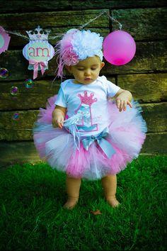 First Birthday Princess Crown Chevron tutu by LuresandLaceChildren Princess First Birthday, Baby Girl First Birthday, Princess Party, First Birthday Parties, Little Princess, First Birthdays, Birthday Frocks, Birthday Tutu, Birthday Ideas