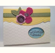 Birthday Felt Flowers-JB Stampers/Stamping Dietitian