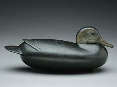 Early and exceptional lowhead model black duck, William Quinn, Bristol, Pennsylvania.