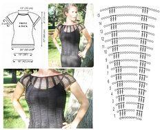 Crochet T Shirts, Crochet Blouse, Crochet Clothes, Crochet Bikini, Crochet Top, Crochet Skirt Pattern, Crochet Basket Pattern, Crochet Stitches Patterns, Knitting Patterns
