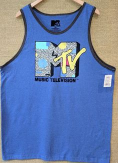 ce4eea54360a8 NEW MTV Music Television Mens Sleeveless Tank Top T Shirt L  fashion   clothing  shoes  accessories  mensclothing  shirts (ebay link)