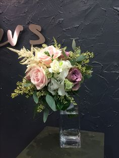 Marvelous Bridesmaid bouquet Amnesia&Sweet Avalanche roses, freesia, astilbe flower, white hydragea, white astrantia, eucalyptus.