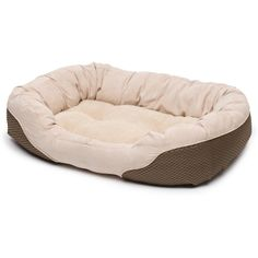 Petco Diamond Tufted Olive & Tan Lounger Dog Bed