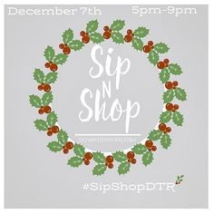 #SipShopDTR is back with  s on! Shop (and SHOP LOCAL) this holiday season for all the gifts on your list(s) w/ over 20 participating independent downtown Raleigh retailers. Union Camp being one of them (I know a little off the beaten track but at least I'm on your way home)!  Enjoy a festive evening out with extended store hours holiday cheer (aka drinks & treats) and a chance to win a grand #DTR retail prize package worth hundreds of dollars!  Wanna get in on the action? Shop with any of…