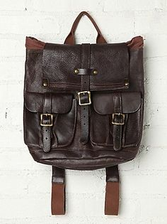 Bed | Stu Shiloh Leather Backpack at Free People Clothing Boutique