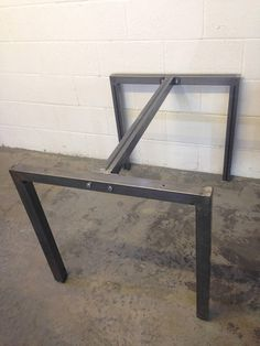Industrial upside down U shaped steel dining table or office