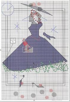 More Cross Stitch---PAGE 2 OF 7---THREE DRESSES