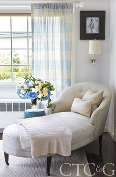 Chaise Lounge with cashmere throw and pillows; neutral; Connecticut; #CTC&G