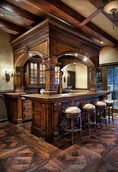 English Manor - traditional - family room - houston - JAUREGUI Architecture Interiors Construction