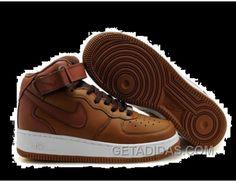 http://www.getadidas.com/mens-nike-air-force-1-mid-brown-white-shoes-lastest.html MENS NIKE AIR FORCE 1 MID BROWN WHITE SHOES LASTEST Only $54.92 , Free Shipping!