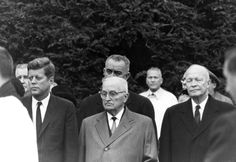 Four presidents (one sitting, one future, and two former), pay their respects at Eleanor Roosevelt's funeral. Hyde Park, NY - November 10, 1962.