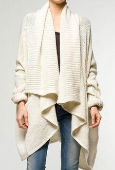 0b7038b7 Chunky_knit_cardigan_cream How To Wear Cardigan, Oversized Knit Cardigan,  Crochet Cardigan, Sweater Cardigan,