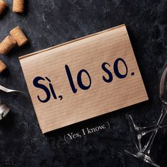 Frase della settimana / Phrase of the week: Sì, lo so! (Yes, I know!) Learn more about this phrase by visiting our website! #italian #italiano #italianlanguage #italianlessons Italian Grammar, Italian Vocabulary, Italian Phrases, Italian Words, Learn To Speak Italian, Learn French, Italian Language School, Korean Language, Spanish Language