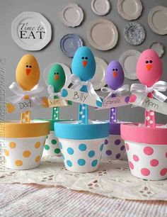 Easter chicken place holders