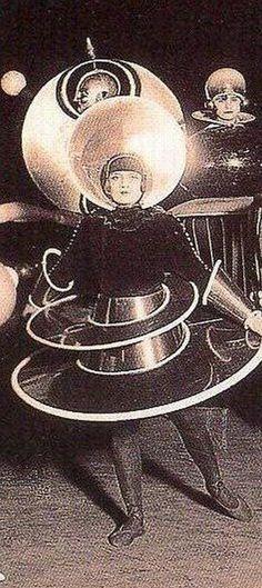 Oskar Schlemmer costume for Treadic Ballet 1922