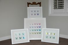 I've been working hard on custom orders! Various coloured butterfly shadow box frames.