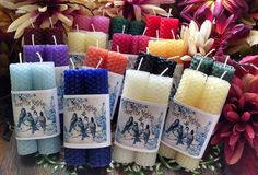 2 Beeswax Mini Spell Candles Chime Candles Prayer Candles Ritual You choose the color. by HoneyVineMagickals on Etsy