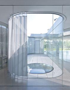 SANAA's most impressive creations | Architecture | Agenda | Phaidon :: Internal Courtyard With Curtain Kazuyo Sejima + Ryue Nishizawa: SANAA, Toledo Museum of Art Glass Pavilion (2006), Ohio, USA