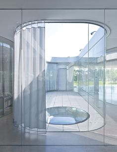 SANAA's most impressive creations | Architecture | Agenda | Phaidon :: Internal Courtyard With Curtain Kazuyo Sejima + Ryue Nishizawa: SANAA, Toledo Museum of Art Glass Pavilion (2006), Ohio, USA