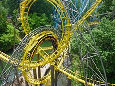 Loch Ness Monster (Busch Gardens Williamsburg) - Looks cool, but feels awful like The Steel Phantom/Phantoms Revenge at Kennywood Park