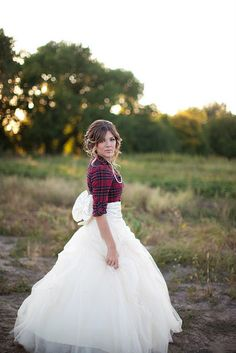 Love the plaid, and the hair, and the big bow... well pretty much everything.