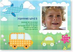 Einladungskarte zum Kindergeburtstag - Karierter Stadtdschungel