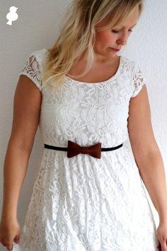 DIY Leather Bow Tie Belt