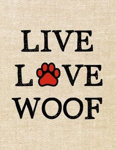 Live Live Woof - Exclusive Tshirt For Pet Lovers - *** Just Release - Not Store *** You can find more information at: