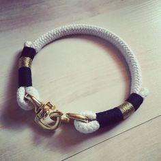 """Hund: Halsbänder - """"Momochita"""" Hunde Halsband aus Seil - ein Designerstück von Momo_chita bei DaWanda"""